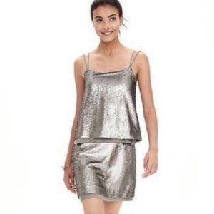Banana Republic Silver sequin dress